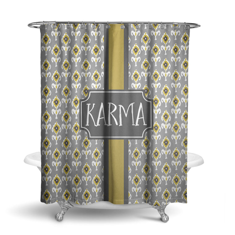 Ikat Monogram Shower Curtain (SC1013)