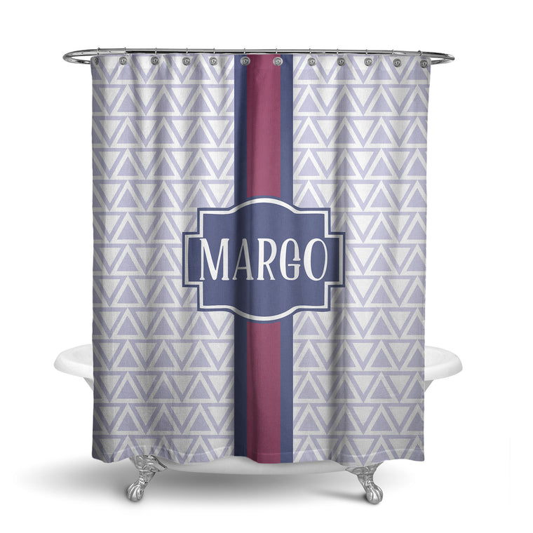 Invert Triangles Monogram Shower Curtain (SC1015)