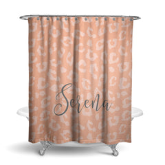 Leopard Monogram Shower Curtain (SC1016)