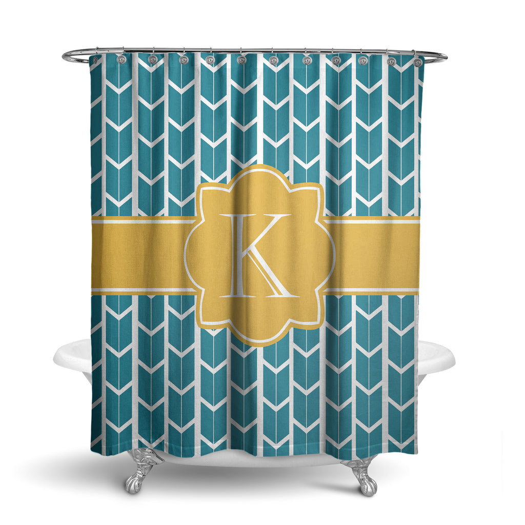 Mod Squares Monogram Shower Curtain SC1018