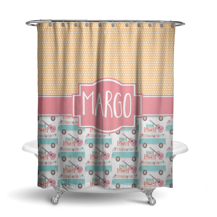 Happy Camper Monogram Shower Curtain (SC1040)