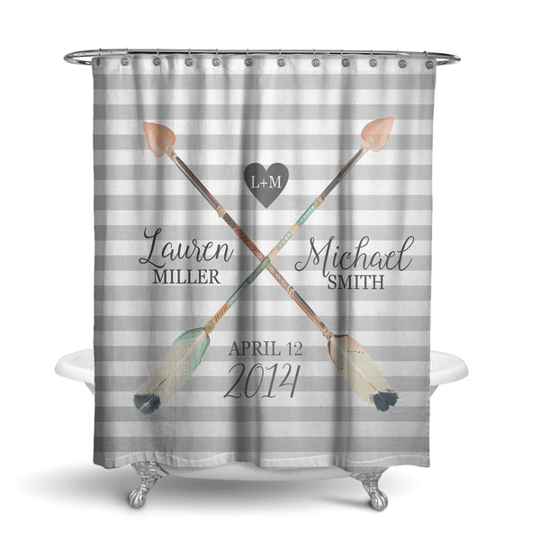 Boho Marriage Typography Shower Curtain (SC1064)
