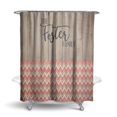Coral Aztec Tribal Shower Curtain (SC1066)