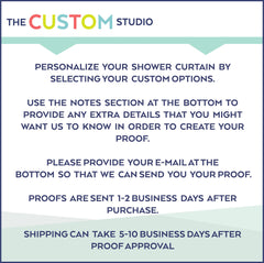 Mod Squares Monogram Shower Curtain (SC1018)
