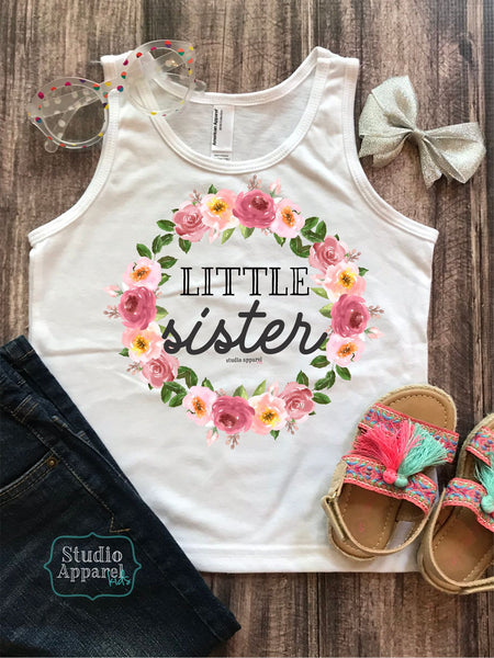 Little Sister Wreath Raglan Tee (T1022)