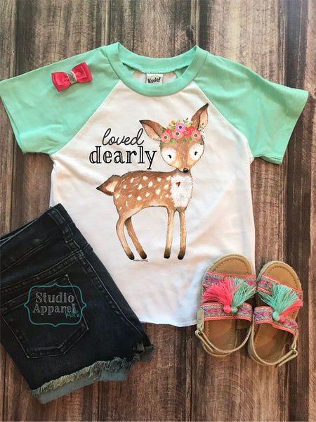 Dearly Loved Raglan Tee (T1030)