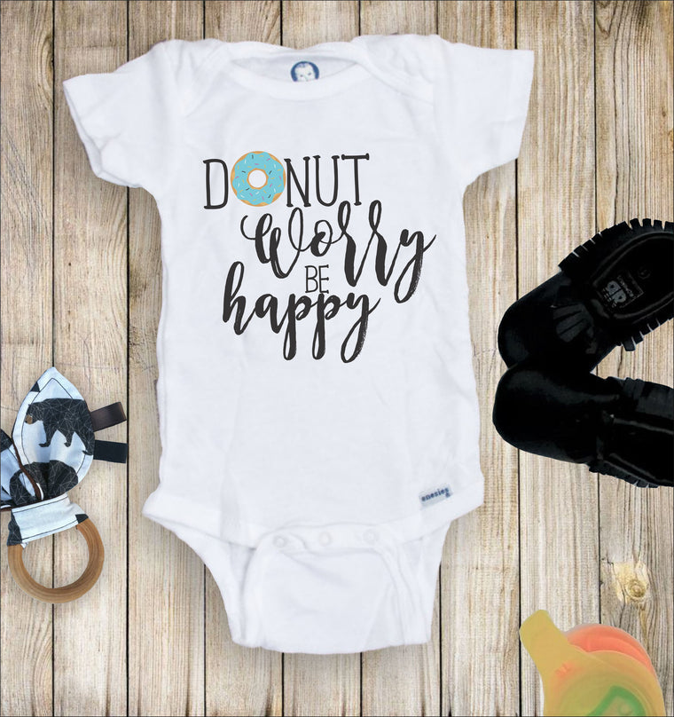 Donut Worry Be Happy Toddler Infant Tee
