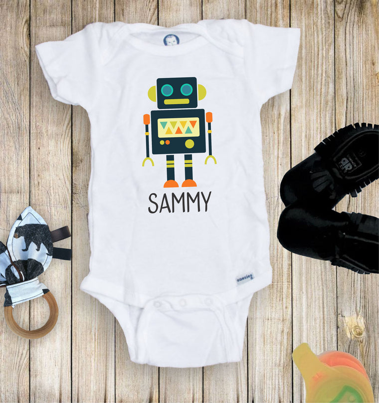 Personalized Robot Toddler Infant Tee