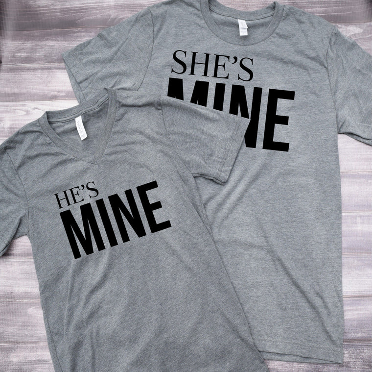 She's Mine He's Mine Couples Set Tee Shirts