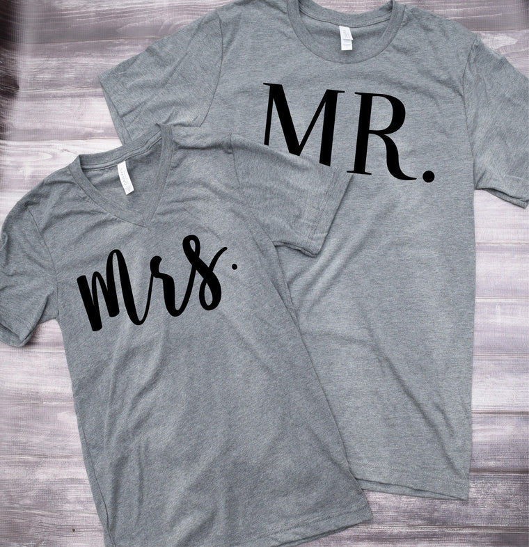 Mr. Mrs. Couples Set Tee Shirts