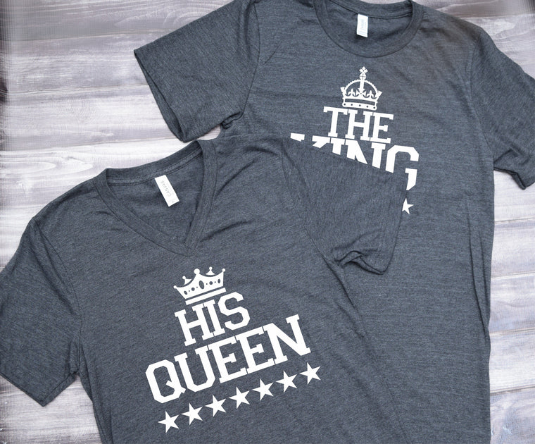 The King His Queen Couples Set Tee Shirts