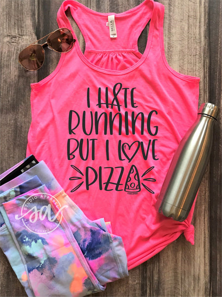 I Hate Running but I Love Pizza Work Out Tank