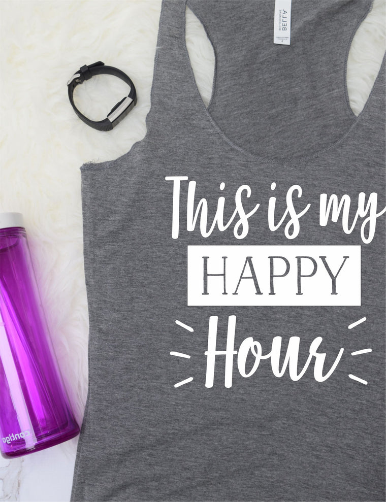 This is my Happy Hour Work Out Tank