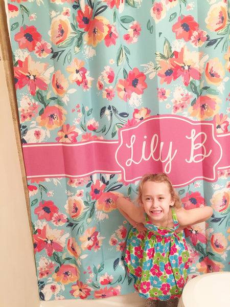 Anchored in the South Monogram Shower Curtain (SC1038)