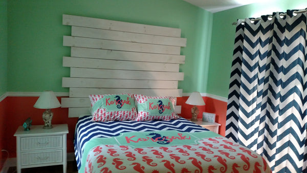 Preppy Bows Personalized Bedding