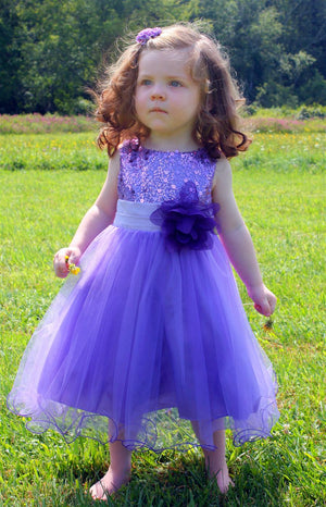 Sequin Girl Party Flower girl Dress