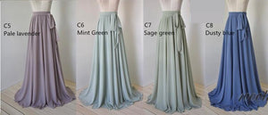 Floor Length Chiffon Skirt With Sash