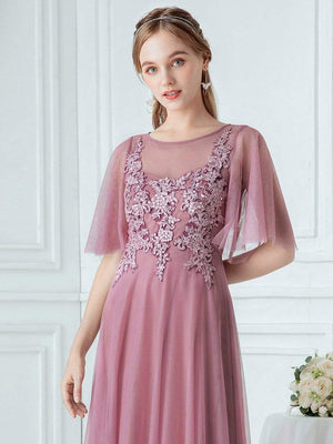 Romantic Floral Print Bridesmaid Dress