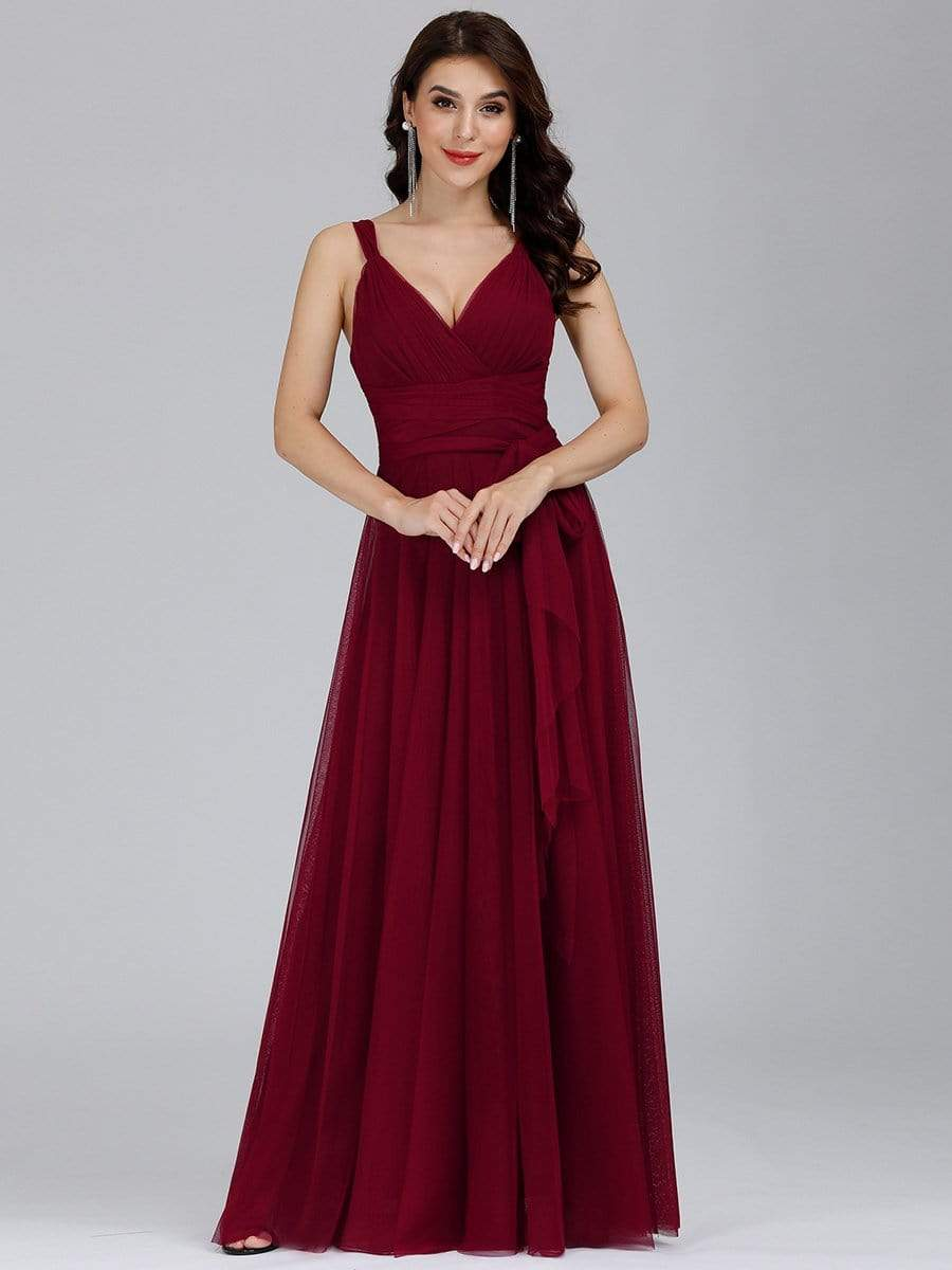 Sleeveless Tulle Bridesmaid/Evening Dress