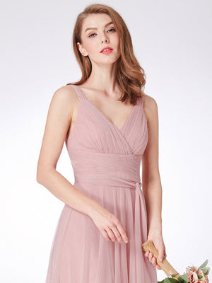 Sleeveless Tulle Bridesmaid Dress