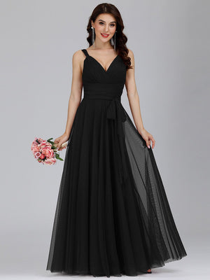 Sleeveless Tulle Bridesmaid/Ball/Evening Dress