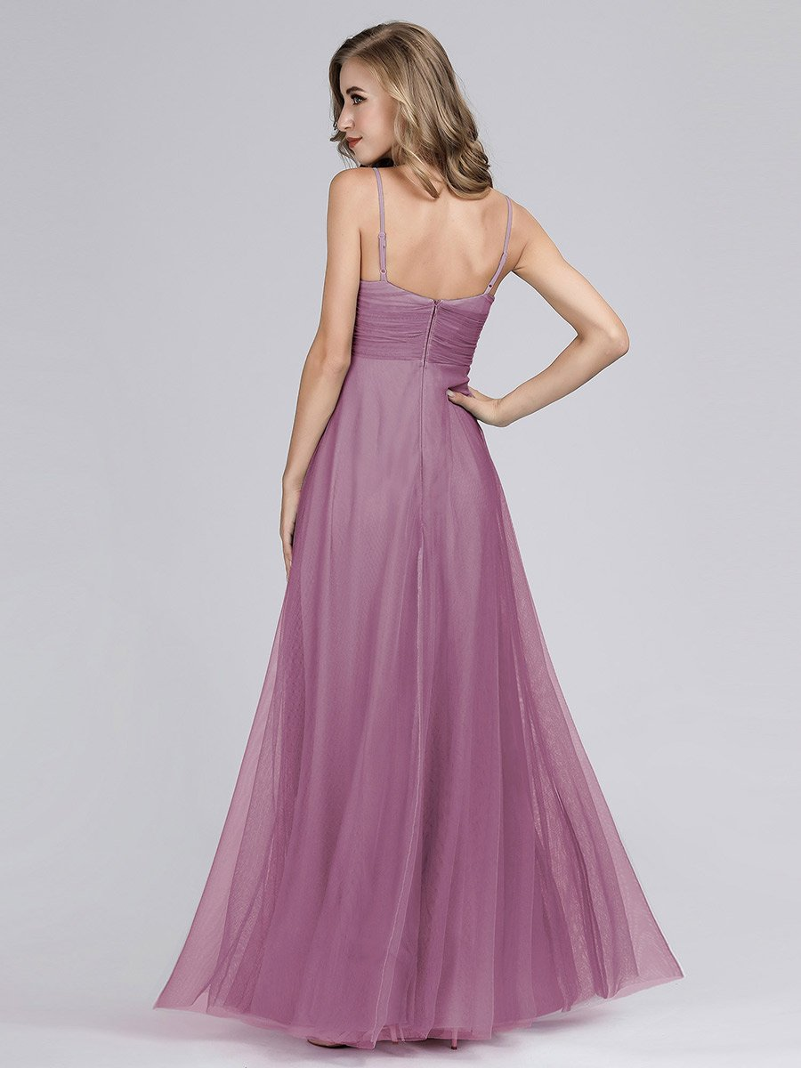 Spaghetti Strap Chiffon Bridesmaid Dress