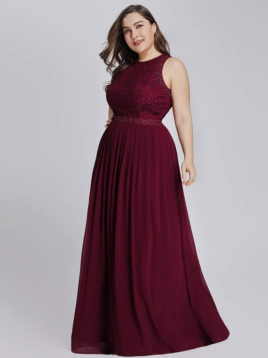 Empire Waist Sleeveless A Line Bridesmaids Dress