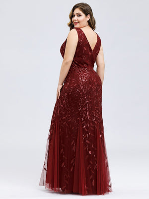 Classic Fishtail Sequin Evening Dress