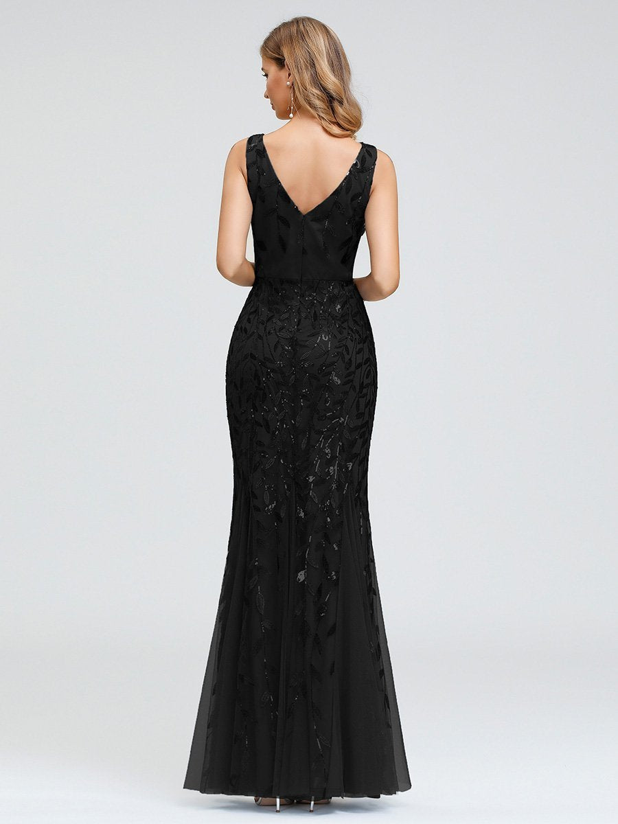 Classic Fishtail Sequin Ball/Evening Dress