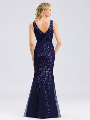 Classic Fishtail Sequin Bridesmaids Dress
