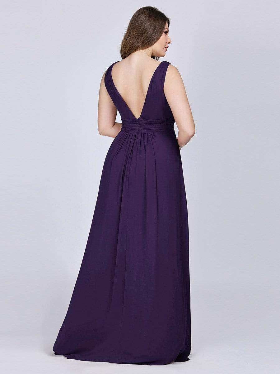 Deep V Neck Bridesmaids Dress
