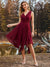 Knee Length Chiffon Bridesmaid Dress with Irregular Hem