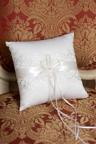 Lace Trimmed Pillow
