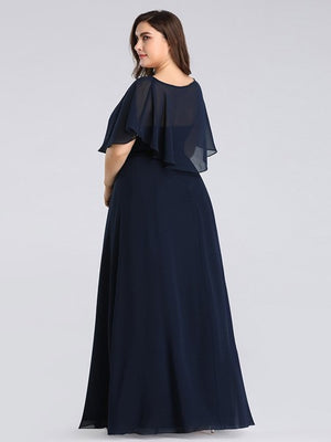 Plus Size Long Party Dress with Shawl