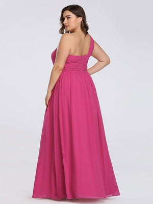 One Shoulder Floral Bridesmaids Dress - BP08237