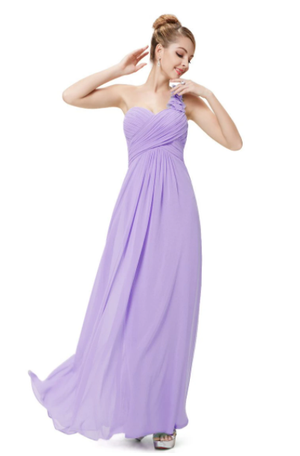 One Shoulder Chiffon Bridesmaid Dress - BP09768
