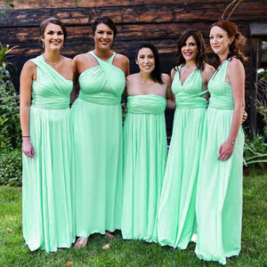 Apple Green Maxi Infinity Dress
