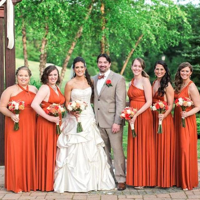 Burnt Orange Maxi Infinity Dress