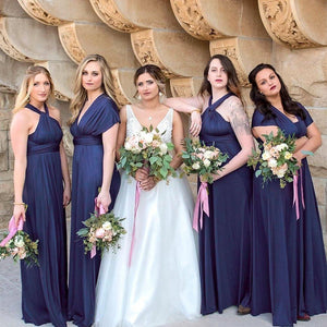 Navy Blue Maxi Infinity Dress