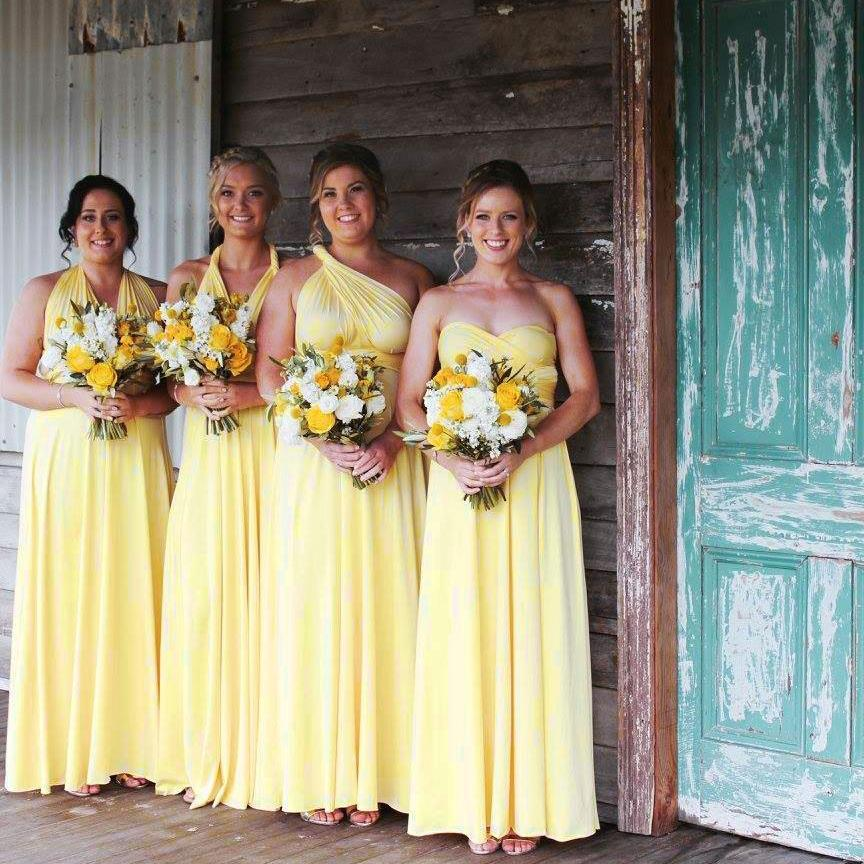 Yellow Maxi Infinity Dress