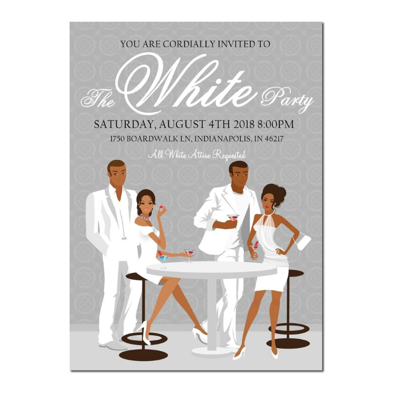 African American All White Party-Gray