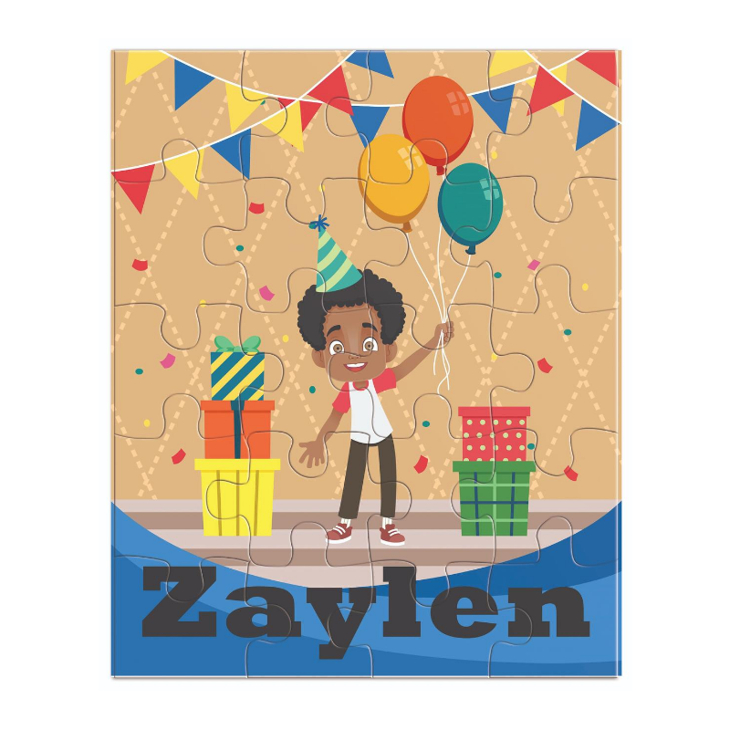 African American Birthday Boy Puzzle