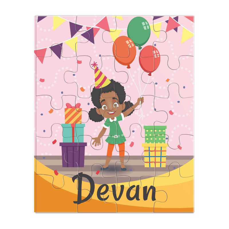 African American Birthday Girl Puzzle