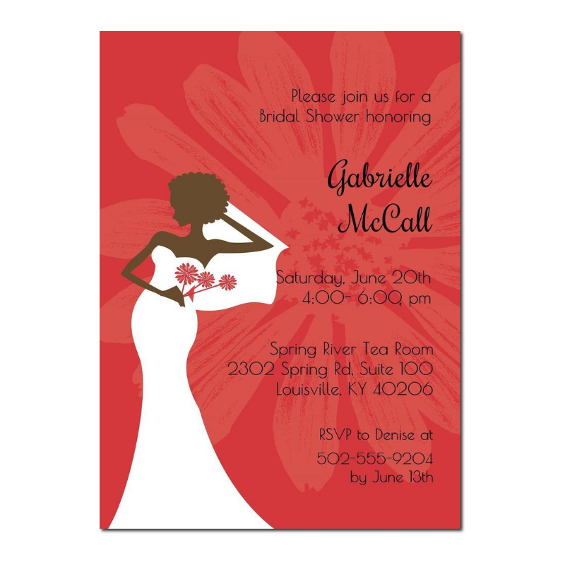 Oh So Chic Red Bridal Shower Invitation
