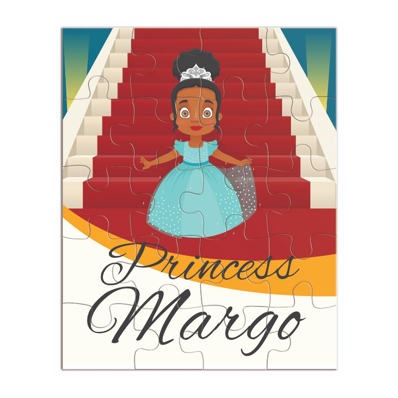 Princess jigsaw puzzle featuring a beautiful African American princess with tiara.