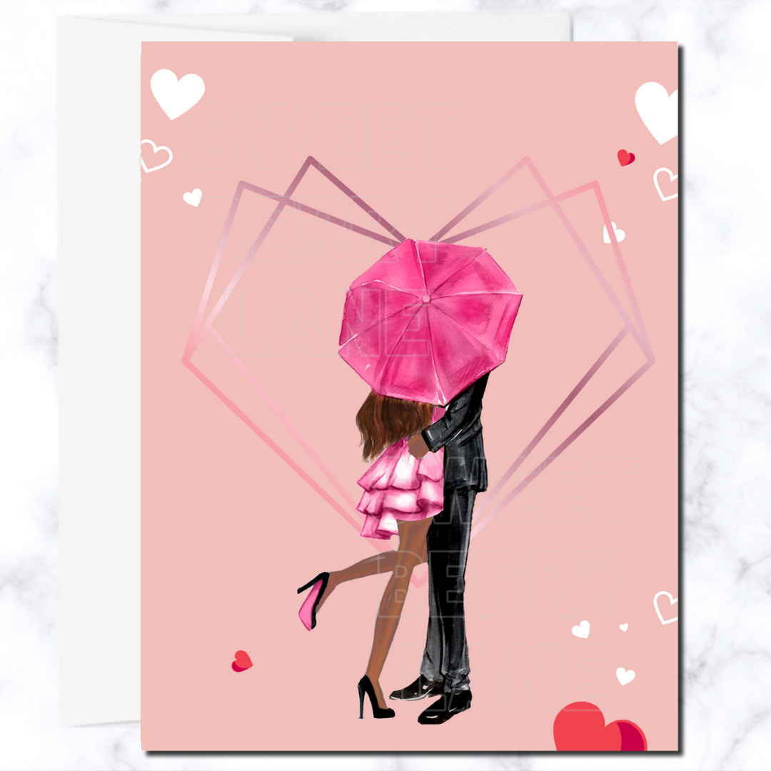 African American Valentine's Day Card, Black Love Valentine's Greeting Card