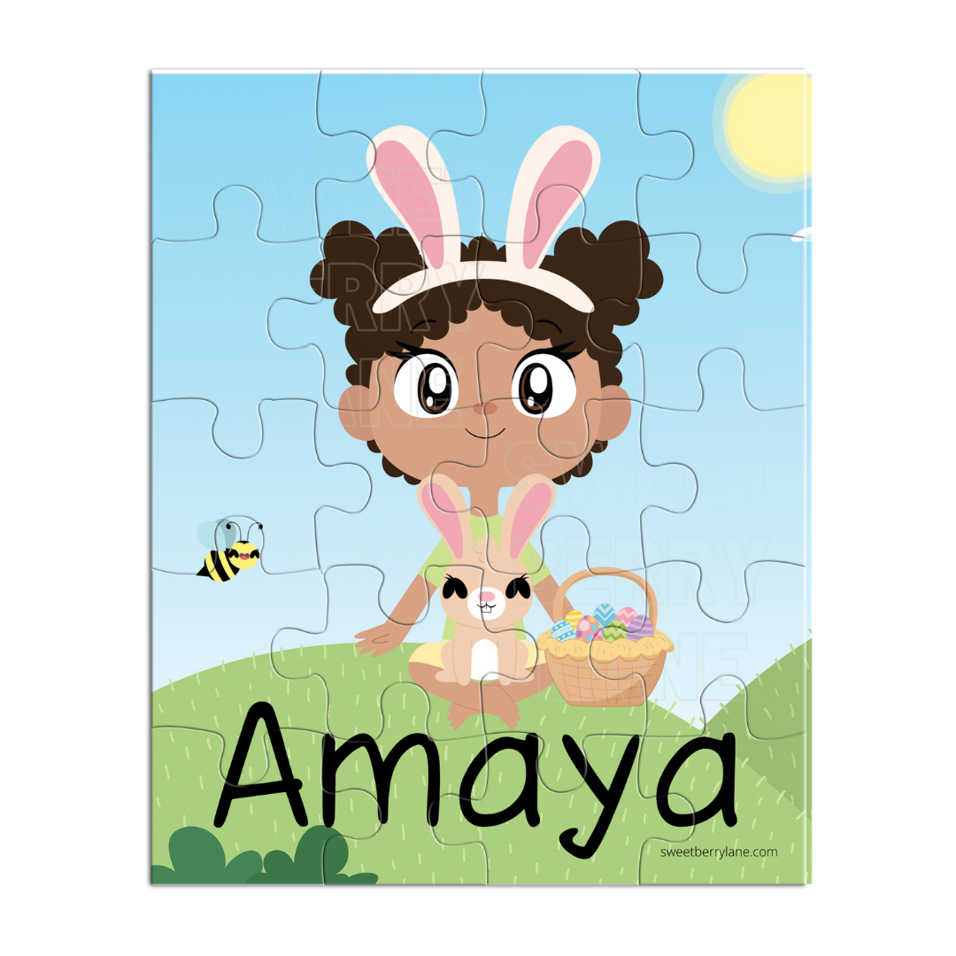 African American Puzzle Easter Girl
