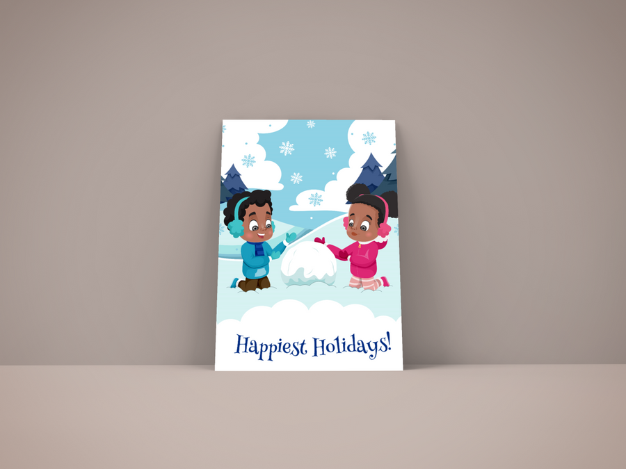 Happiest Holiday  African American Christmas Card