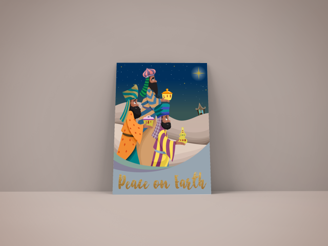 We Three Kings African American Christmas Card