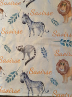 Jungle animals custom name blanket